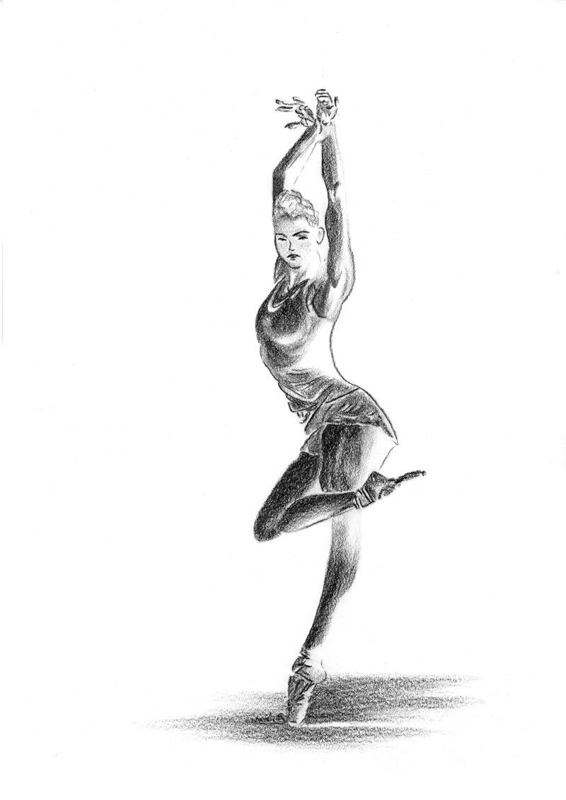 Beautiful-ballerina – charcoal