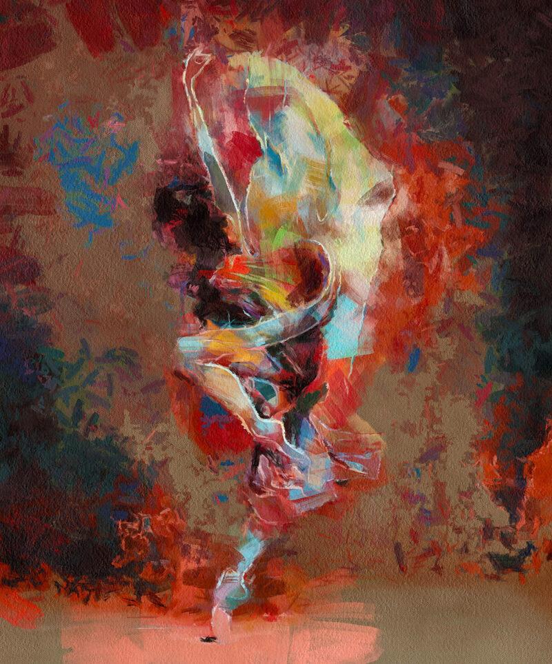 Abstract dancer – digital art