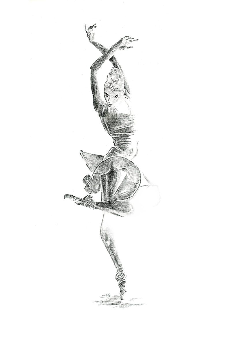 Ballerina – charcoal