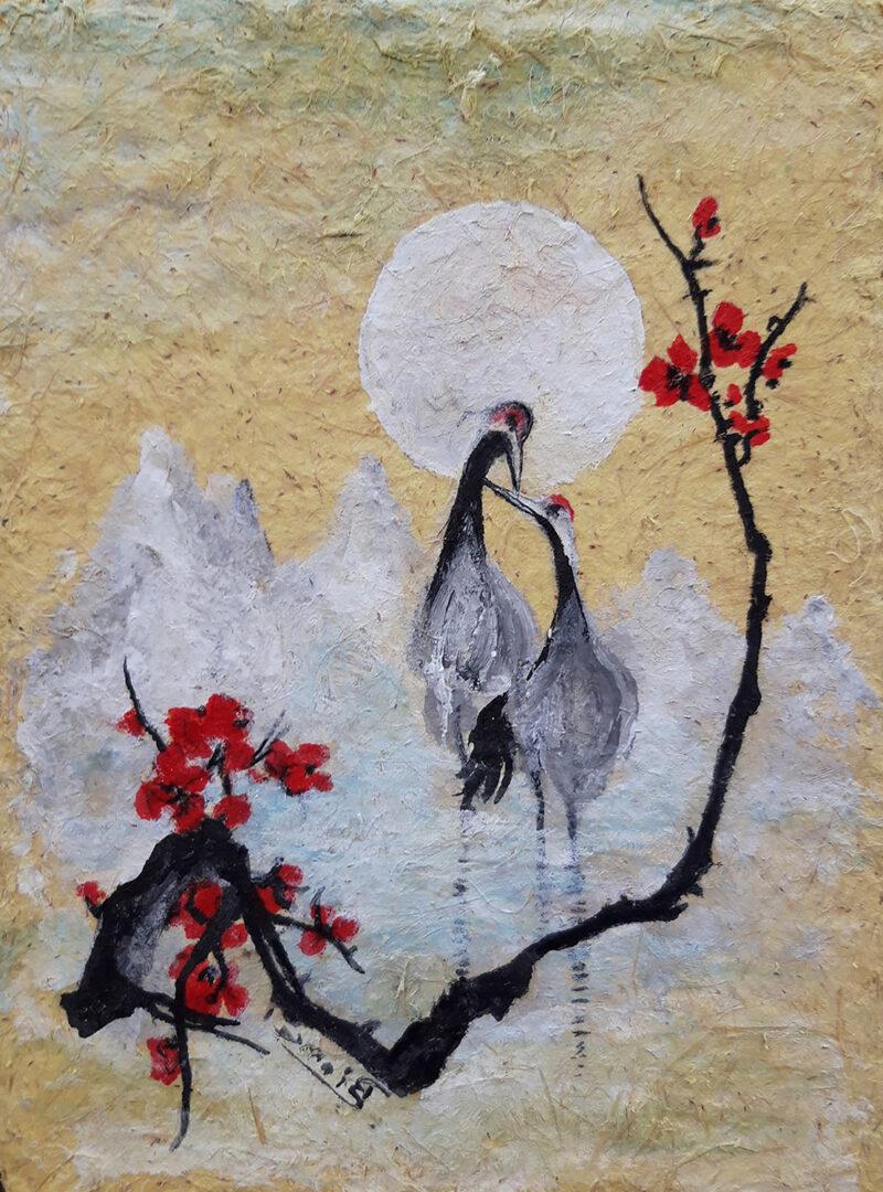 Spring blossom – handmade paper