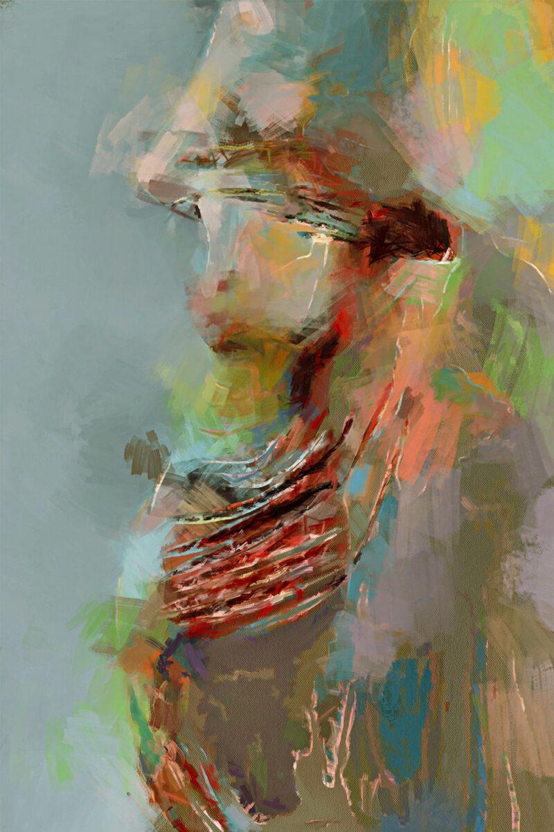 Abstract woman – digital art