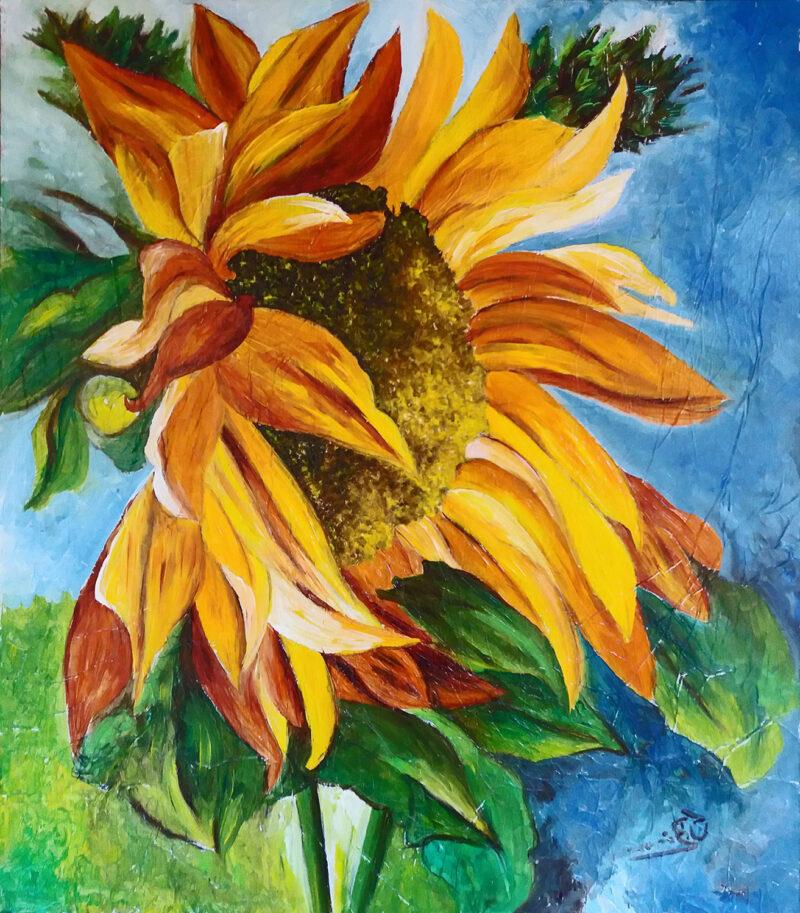 Sunflower – oil on canvas