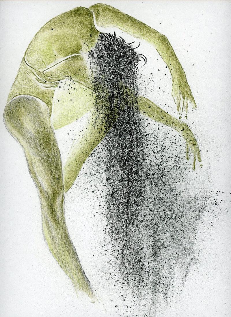 Dust – colored pencils