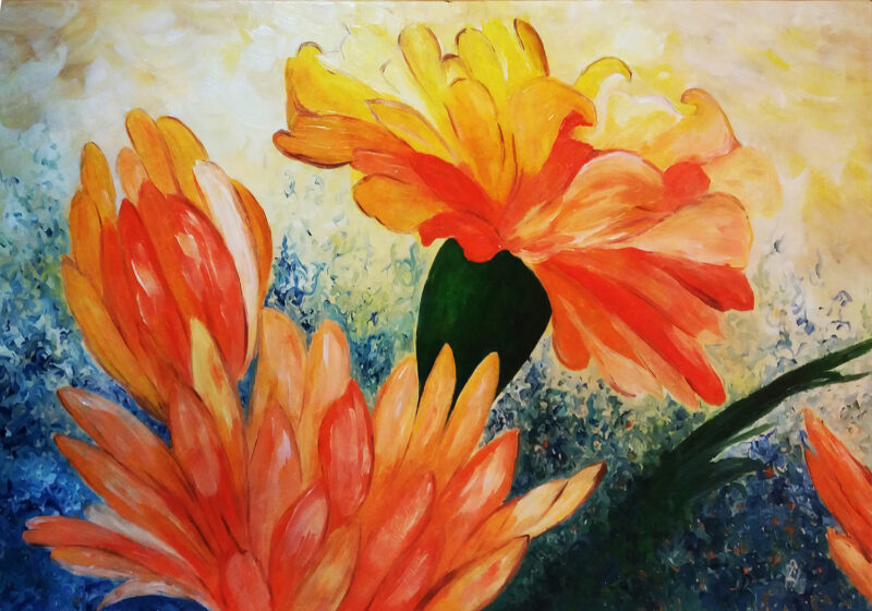 Flowers – oil on canvas