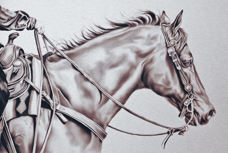 Brown horse – digital art