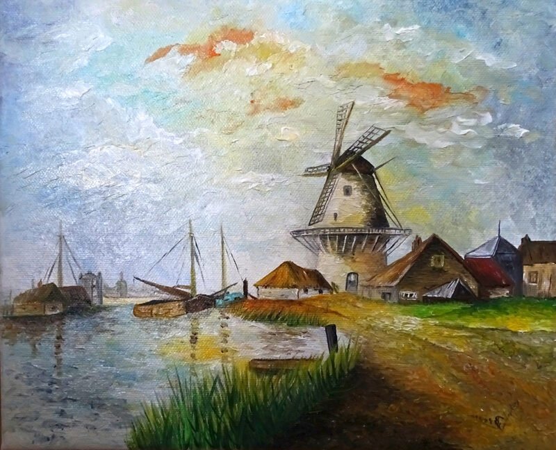 The mill – oil on canvas