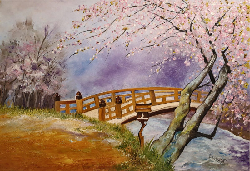 Spring time blossom – oil on canvas