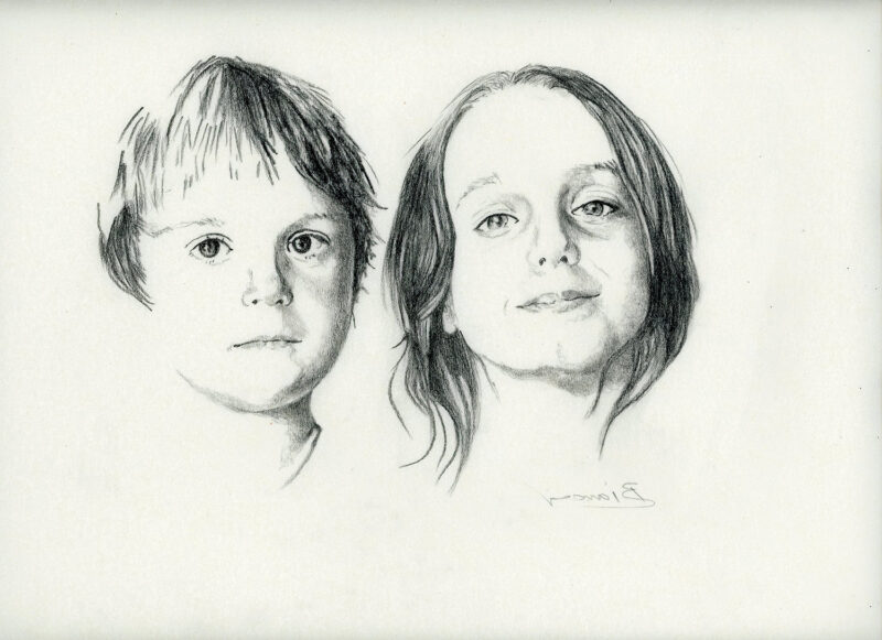 Brother and sister – pitt pencil