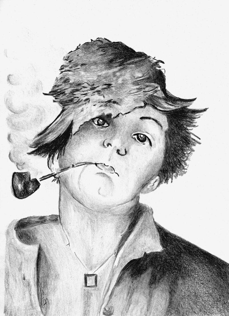 Boy portrait – pitt pencils