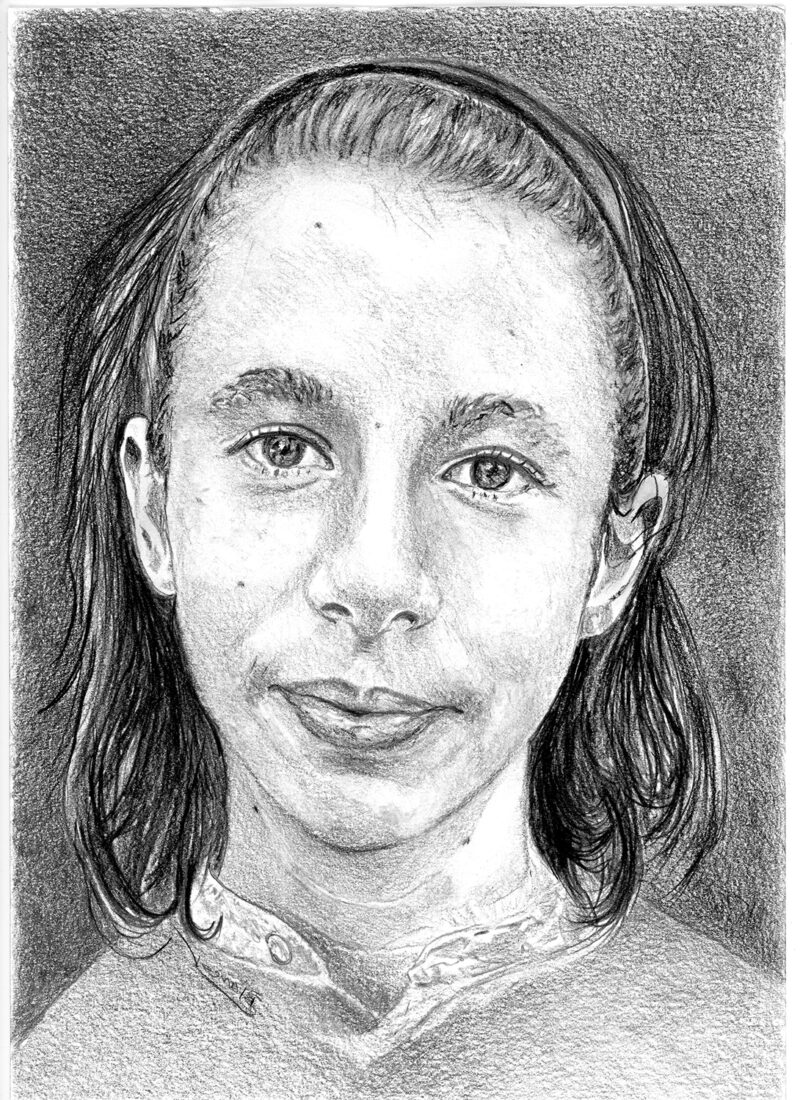 Teen portrait – pitt pencils