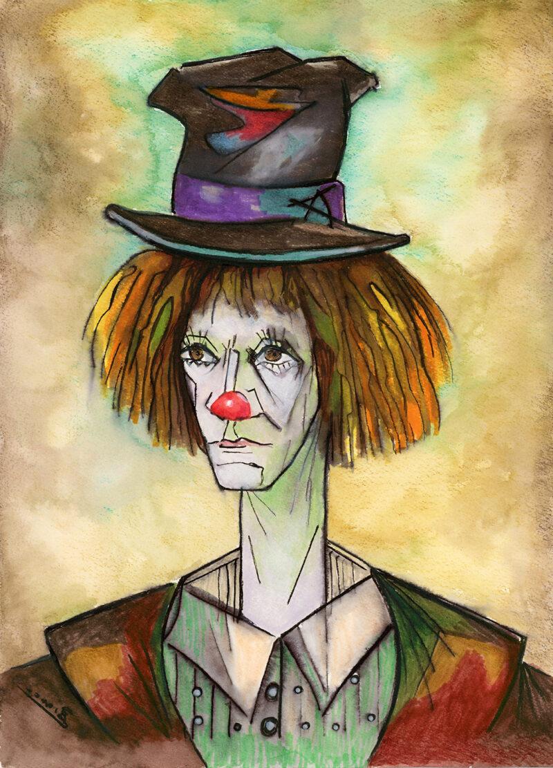 Clown – watercolor